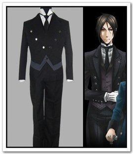 Black Sebastian Butler Kostüm - Sunkee Black Butler Cosplay Sebastian·Michaelis Formelle Kleidung Kostüm, Größe S ( Alle Größe Sind Wie Beschreibung Gesagt, überprüfen Sie Bitte Die Größentabelle Vor Der Bestellung )