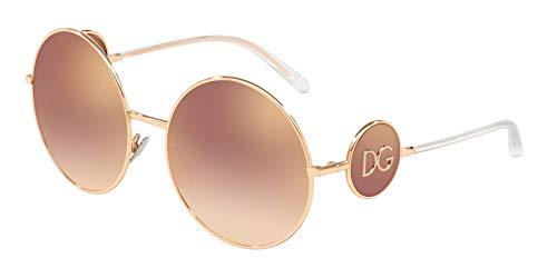 DOLCE & GABBNA DG2205 Sunglasses, Gold (Pink Gold), 59mm