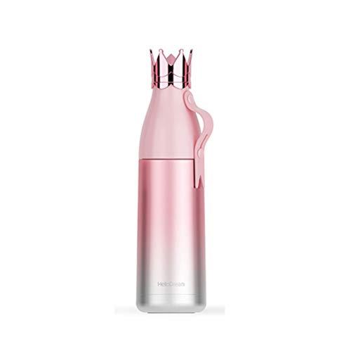Thermos Vakuumisolierte Edelstahl-Thermosflasche hält Wasser 24 Stunden kalt 12 Stunden heiß 350 ml, ()