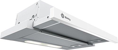 Balay 3BT262MB Telescópica o extraplana Blanco 300m³/h D – Campana (300 m³/h, Canalizado/Recirculación, E, D, D, 62 dB)
