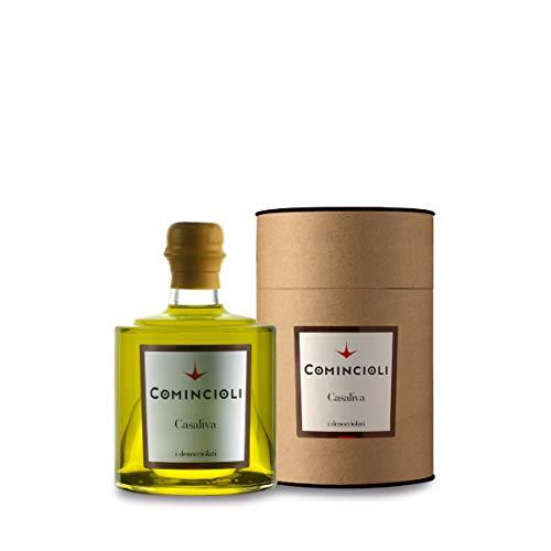 Olio extravergine di oliva casaliva - comincioli - lombardia - bottiglia di vetro astucciata - ml - casaliva -