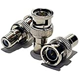 10pcs BNC Male To RCA Female Connector Adapter Coaxial CCTV