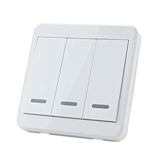 Kongnijiwa 86 Wall Panel 1/2/3 Buttons 433MHz Wireless Remote Controls for Home Room Lighting Switch