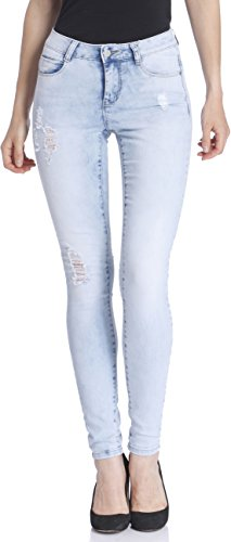 Only Women's Blue Coloured Casual Jeans