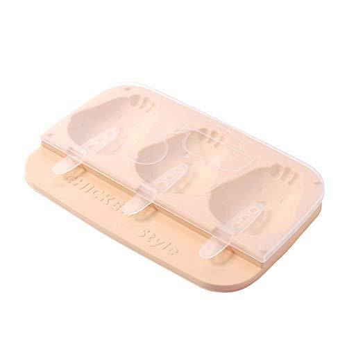 Sulifor Eismaschine Huhn Eiscreme-Maschine Lutscher Form Tablett Küche Eiscreme DIY Schimmel - Huhn Silikon-schimmel