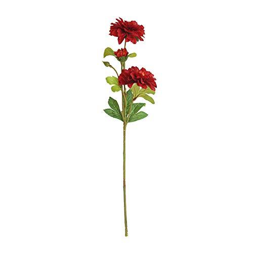 TLfyajJ Künstliche Dahlie Blume Pflanze Fotografie Prop Hochzeit Home Decor 1 Stück rot