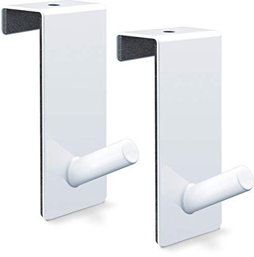 relibo Flipchart Türhaken - platzsparende & mobile Alternative zum Flipchart Ständer | intelligente Lösung zum Aufhängen von Flipchart-Papier | Weiß lackierter Stahl (2x)