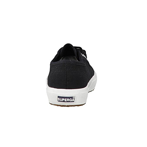 Superga S4s, Sneaker Unisex Adulto BLACK-FWHITE