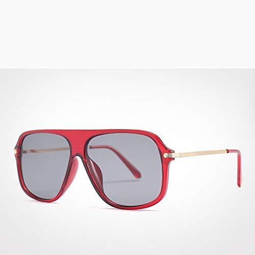 SYQA Sonnenbrille Big Leopard Print Frame Damen Sonnenbrille Übergroße Vintage-Brille zum Fahren männliche quadratische Sonnenbrille Uv400,C5