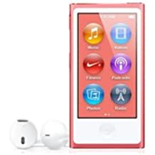 """Apple iPod Nano 7G - Reproductor de MP3 (16 GB, pantalla táctil de 2,5"""", Bluetooth) rosa"""