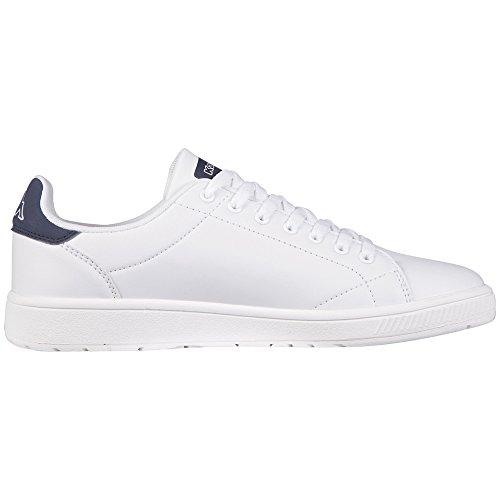 Kappa Court, Sneakers Basses Mixte Adulte Blanc (1067 White/navy)