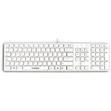 Mooster Mooskey Mk57  - Teclado con USB, color blanco