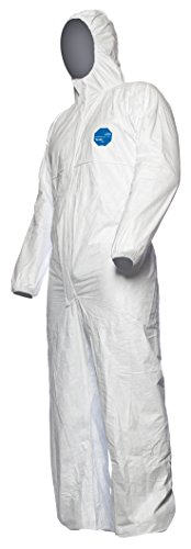DuPont Tyvek 500 Xpert | Chemical Protective Clothing with Hood, Category III, Type 5-B and 6-B |  Robust yet Lightweight  | White | Size XL
