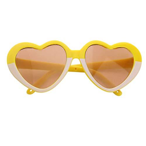 che Brillen Gläser Sonnenbrillen Für 18 Zoll Puppen Kleidung Zubehör - Gelb, B ()