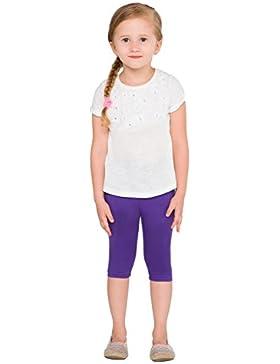 hi!mom Abgeschnitten Kinder 3/4 Baumwollleggings Einfach Einfarbig Kinder Capri Hose 2 jahre - 13 - Violett, 122...