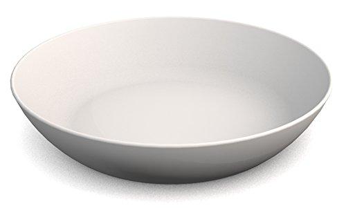 Ornamin Assiette Creuse Ø 15 cm Blanc Mélamine (Modèle 415) / assiette de camping, assiette à soupe, assiette à pâtes
