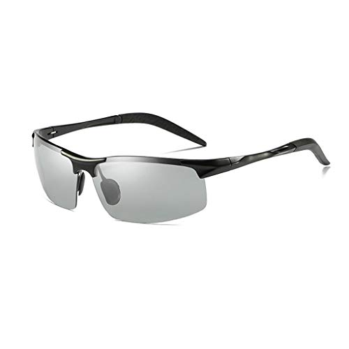 Jinxiaobei Herren Sonnenbrillen Herren Polarized Sports Sunglasses.Sunglasses.Sport Polarized Sunglasses.Polarized Sunglasses.Sunglasses zum Laufen Radfahren Angeln Golf. (Color : Black)