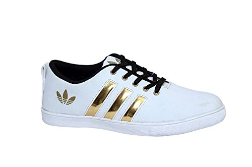 Red Rose Men's Casual Shoes (10 UK, White/Gold)