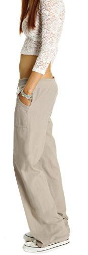 Bestyledberlin Damen Hosen, Damenhosen im Leinenhosen Look, legere Damenhosen j179p-y Koralle