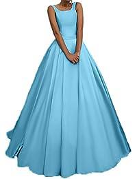 135c3591d5ed Charmant Damen Einfach Satin Langes Abendkleider Ballkleider  Brautjungfernkleider Partykleider A-Linie Rock