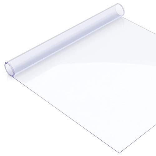 Copertura protettiva trasparente per tavolo da 2mm e di 90cm larghezza, la lunghezza può essere scelta, plastica, Various Colours, 120 x 90 cm
