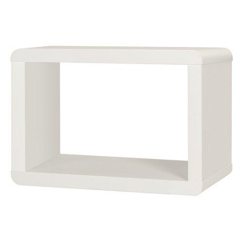 Couchtische Atlanta (PHOENIX 118844WE Beistelltisch, Holz, weiß hochglanz, 38 x 63,7 x 42,7 cm)