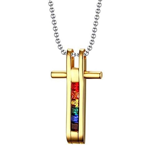 alisierte Halskette Anhänger, 36mm Gold glitzernden vergoldeten Diamant-Anhänger mit 50cm Edelstahl Halskette, Unisex trendige Halskette Anhänger (Glitzernden Kostüm Schmuck)
