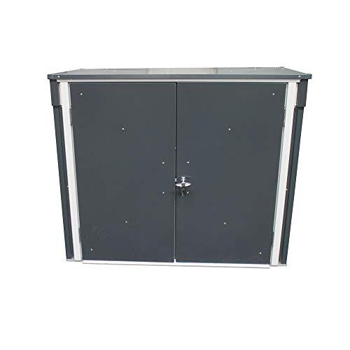Tepro Mülltonnenbox, anthrazit / weiß, 154.2 x 96 x 130.5 cm - 5