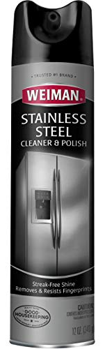 Weiman Stainless Steel Aerosol Cleaner and Polish