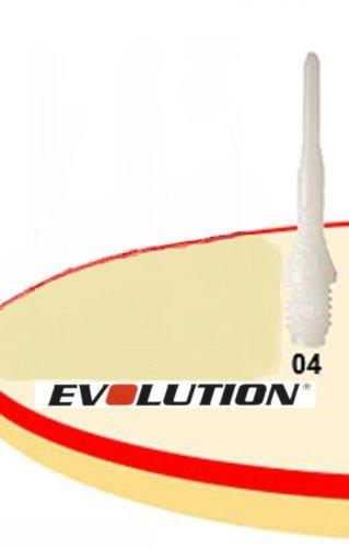Original Evolution Evo Softdart Spitzen, Gewinde: 2BA, 100 Stück, Farbe: Weiß
