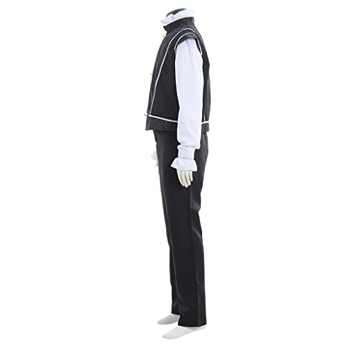 Cosplayitem Mittelalter Kostüm Prinz Kostüm Anzug Royal Palace Jacke Fancy Dress Schwarz Schwarz