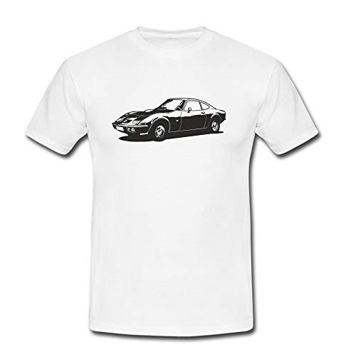 T-Shirt Motiv GT 1100 1900 Youngtimer Oldtimer Auto Classic Automobile Car Tshirt Herren weiß Gr. XL