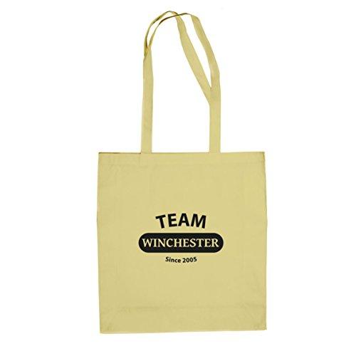 Team Winchester - Stofftasche / Beutel Natur