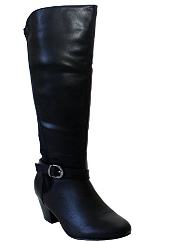 Comfort Plus, Damen Stiefel & Stiefeletten Schwarz (Black Pu)