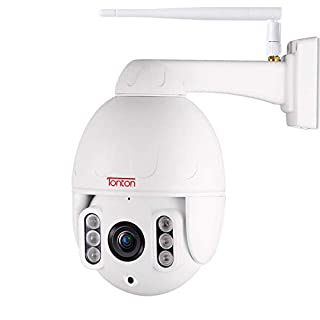 Tonton Full HD 1080P PTZ IP Dome Camera ONVIF 5X Optical Zoom,2.0 MP Waterproof Outdoor WiFi Security Camera with Motion Detection, 2-Ways Audio, Night Vision up to 200ft, Metal Housing