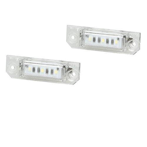 ECD Germany 2 x LED Kennzeichenbeleuchtung mit E-Prüfzeichen 3 SMD Kennzeichen Beleuchtung Kennzeichenleuchte Nummernschild Licht
