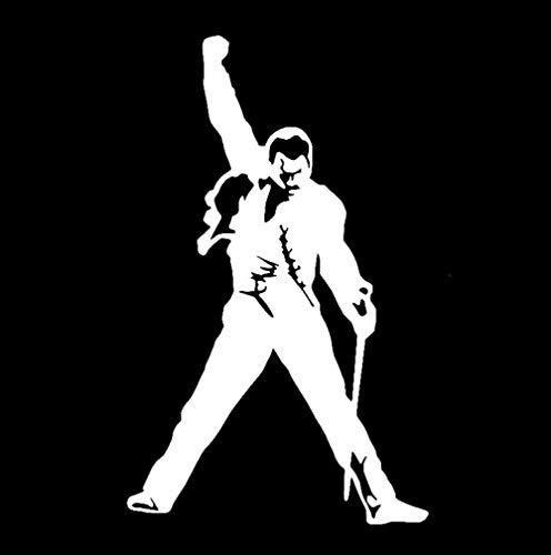 RJSYT 2PCS Autoaufkleber Auto Aufkleber Vinyl Applique Freddy Mercury Riesen Rock Sänger 9,3 cm * 14,9 cm -