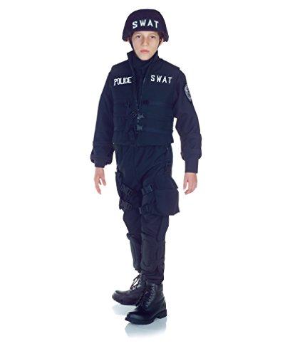 SWAT Team Police Uniform Costume Child Small 4-6