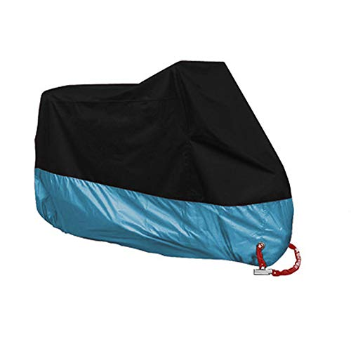 Preisvergleich Produktbild Naisidier Motorradabdeckung für Outdoor-Aufbewahrung,  UV-Schutz – Schutz vor Allen Wetterbedingungen,  Motorrad-Abdeckung,  Schwarz / Blau