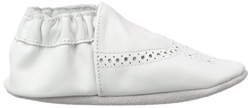 Robeez Smart, Chaussures de Naissance Bébé Garçon Blanc