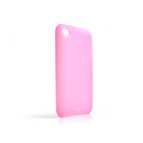 System-S Silikonhülle Tasche Hülle Skin Case Schutz Cover Pink für Apple iPod Touch 4 (Ipod 4 Display Pink)