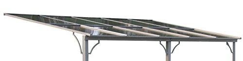 Ersatzdach Terrassendach Hardtop Anbau Pergola 3x4,5m Doppelstegplatten Polycarbonat Carport