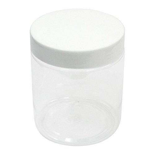 Preisvergleich Produktbild 250 ml White Clear Plastic Widemouth Jar Flasche für Biochemie-Labor