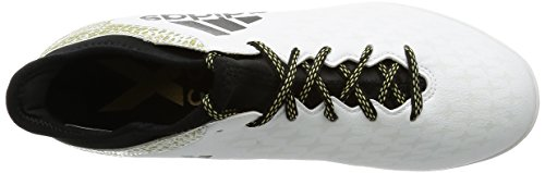 adidas X 16.3 In, Entraînement de football homme Blanc (Ftwr White/core Black/gold Metallic)