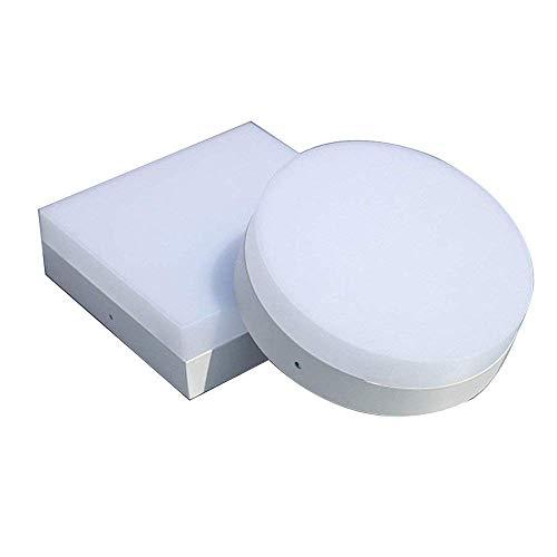 Kleine LED Deckenleuchte Mini Decken Leuchte Ultra thin Moderne Design Wohnzimmer Schlafzimmer Küche Flur Deckenlampe Beleuchtung Aluminiunm Acryl Lampe D12cm 12W (Warm Licht Rund) Mini Thin Led