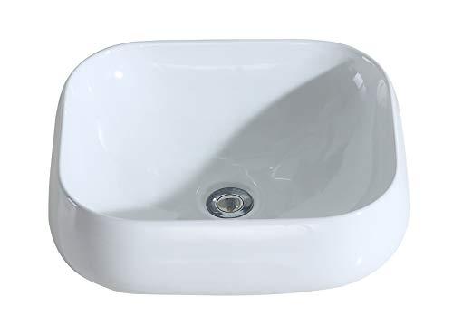 Eridanus serie kengo, lavabo di ceramica bianco lusso lavandino lavello lavamano lavabo da appoggio rettangolare quadrato bacinella lavandino lavello per bagno casa bidet lavabo