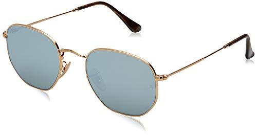 Ray-ban occhiali da sole in oro grigio rb3548n specchio