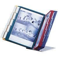 Durable Tischst/änder 20 Sichttafeln mit farbigem Rahmen mit reflexionsarmer und dokumentenechter Folie DIN A4
