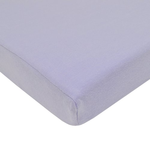 American Baby Company 100% Supreme Cotton Jersey Knit Fitted Portable/Mini Crib Sheet, Lavender by American Baby Company