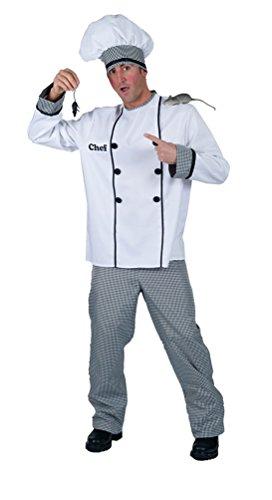 Kostüm Chefkoch Remy Herren Kostüm Karneval Koch Herrenkostüm Größe 48/50 ()